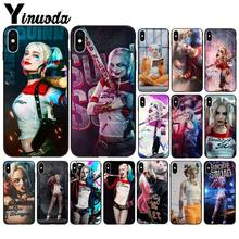 Yinuoda harley quinn TPU schwarz Telefon Fall Abdeckung Shell für Apple iPhone 8 7 6 6 S Plus X XS MAX 5 5 S SE XR Mobile Fällen(China)