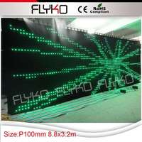 Free shipping flexible LED video curtain vision cloth