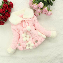 2019 New Fashion Winter Warm Kids Coat for Girls Winter Thicken Faux Fur Girls Coat Princess Party Solid Baby Girl Winter Jacket цены онлайн