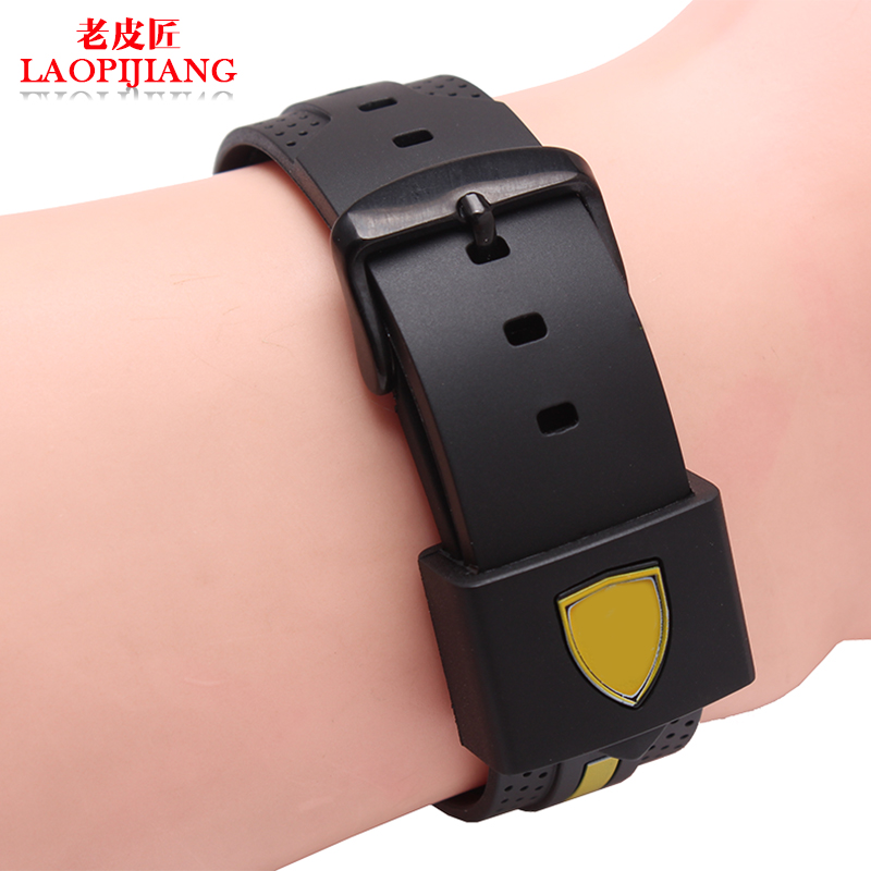 22mm 24mm Silicone Rubber Watchband Fit Ferrari Watch Watchband Dual Color Soft Fashion Strap With Stainless Steel Buckle