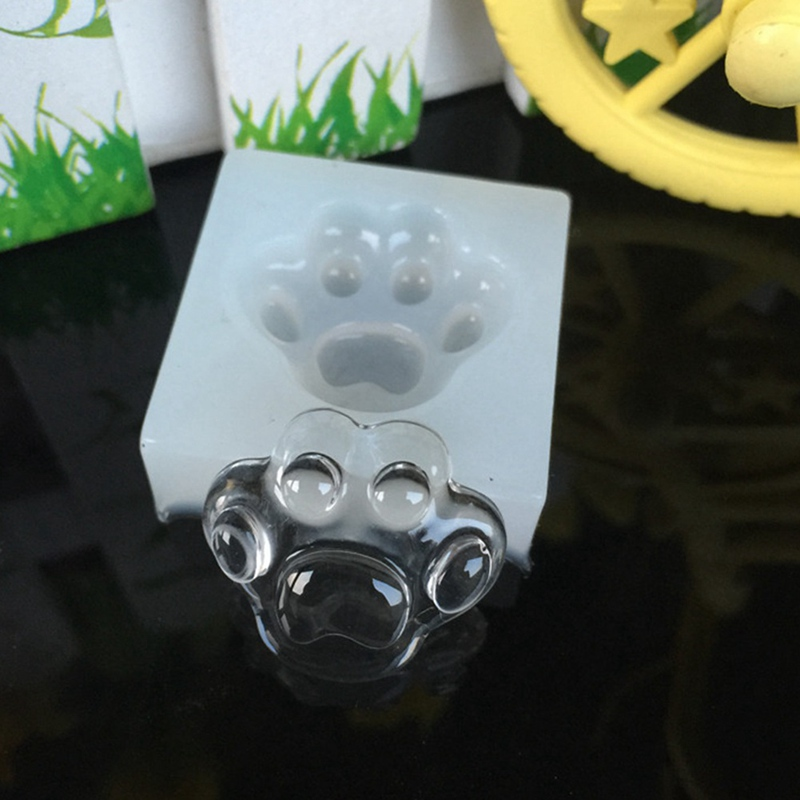 цена UV Resin Jewelry Liquid Silicone Mold Bear Paw Shaped Silicone Animal Paw Resin Molds For DIY Pendant Charms Making Jewelry