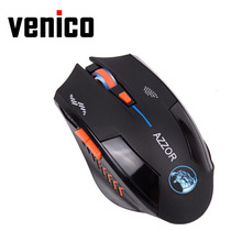 VENICO USB Laser Rechargeable Computer Gaming Wireless Mouse For PC Laptop Built-in Battery With Charging Cable