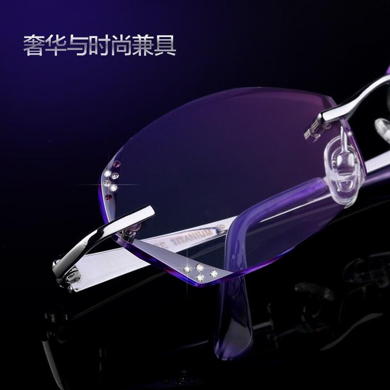 17dea04e545384 Cadre lunettes cadre finis femmes titane lunettes sans monture cadres Corée  diamant coupe lunettes myopie
