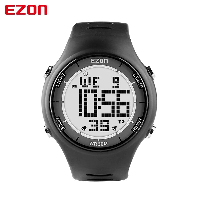 Digitale Uhren Top Marke Ezon T031 Wiederaufladbare Gps Timing Uhr Laufen Fitness Sport Uhren Kalorien Zähler Abstand Tempo 50 M Wasserdichte Uhren