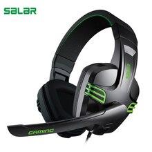 Auriculares Salar KX101 estéreo con micrófono y cable para juegos de PC, especial para gamers