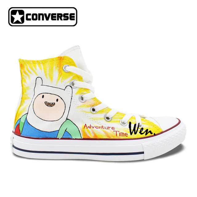 4295c37fc36d Finn and Jake Adventure Time custom converse shoes low top