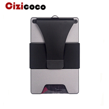 Cizicoco 2019 New Style RFID Card Holder Minimalist Wallet Metal Men Women Id Holders Aluminium Blocking For Cards