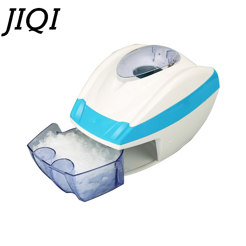 JIQI Electric Block Ice Shaver Blender Ice Crusher Chopper Slush Maker Icecream Cone Snow Ice Smoothies Breaking Machine EU Plug