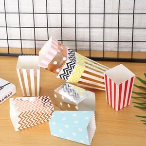 Image 3 - 12 stuks Rose Gold Popcorn Dozen Zakken Kids Party Treat Boxes Bruiloft Verjaardag Decor Film Levert Popcorn Bag Feestartikelen