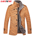 LONMMY Leather jacket men winter jacket men jaqueta Add wool men coat Casual coats men clothes PU Suede 2016 New