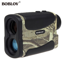 BOBLOV 600M Laser Range Finder 6x Monocular Telescope Multifunction For Hunting Golf Distance Camouflage Rangefinder