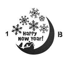 Happy New Year Moon Sticker Painting Stencils for Diy Scrapbooking Stamps Home Decor Paper Card Cake Template Decoration Album merry christmas set sticker painting stencils for diy scrapbooking stamps home decor paper cake card template decoration album