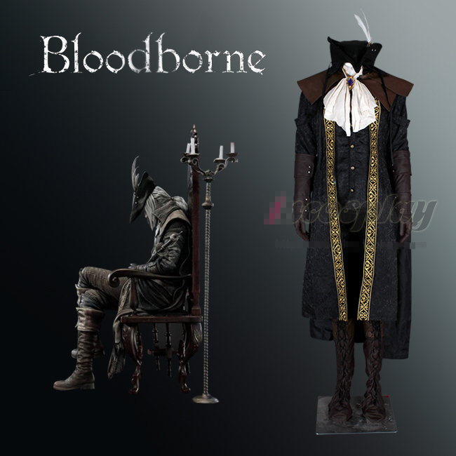 Bloodborne le chasseur Cosplay Costume Full set Costume Unisexe Toute Taille Uniforme