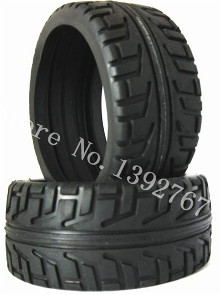 1Pair RC Buggy Remote Control Cars Rubber Tyre Tires & Wheel 100mm*43mm For 1/8 Nitro Power Baja HSP HIMOTO