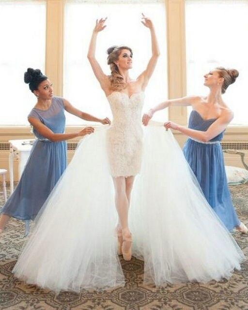 Womens Fairy Stil Tüll Rock Puffy Weiserock Lange Hochzeit ...