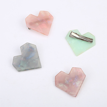 New Fashion Heart Oval Shape Resin Hair Clips for Women Hairpins Shiny Heart Shell Hairgrip Fashion Hair Accessories Gift 2019(China)