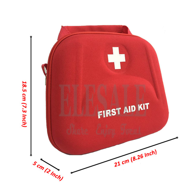 Portable First Aid Kit Bag Water Resistant Emergency Kit Bag Shoulder Strap For Hiking Travel Home Car Emergency Treatment 2