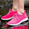 2016 chegada nova malha Respirável sapatos moda Mulher sapatos casuais