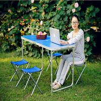 2018 Wicker Rattan Furniture Wooden Folding Table Picnic Portable Travel Outdoor Tables Banquet Table(not include chairs)