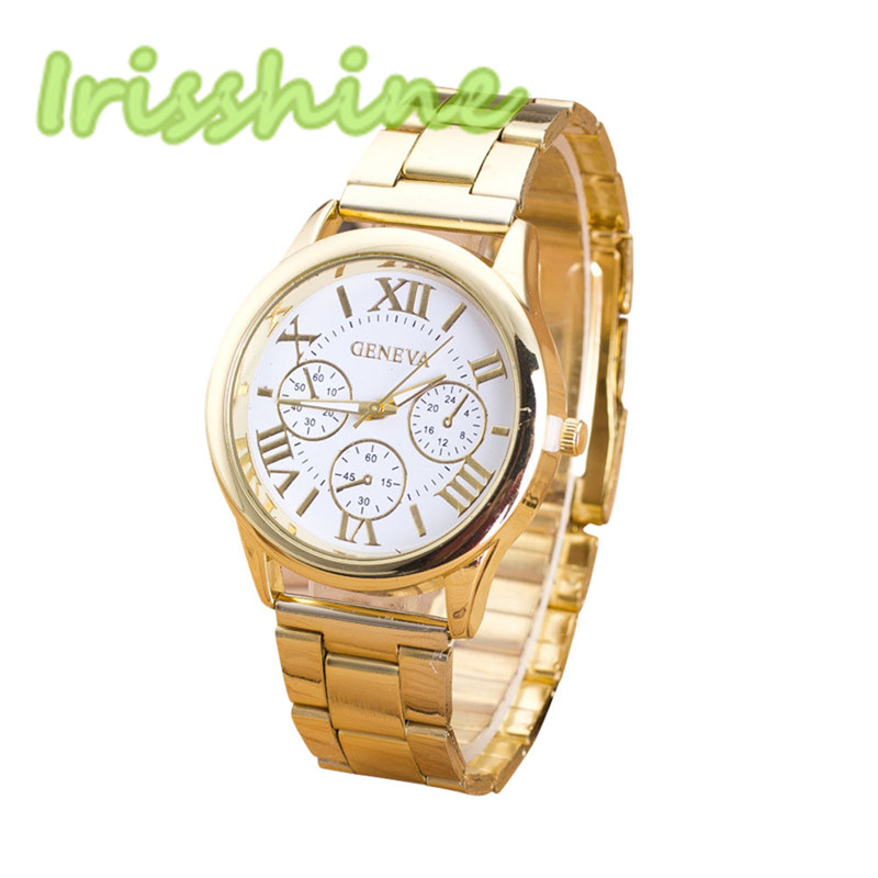 Irissshine #0095 Woman watches Women Roman Numerals Quartz Stainless Steel Wrist Watch High quality Relogio Masculino clock watch women roman numerals quartz gold stainless steel wrist band luxury casual watches relogio feminino high quality