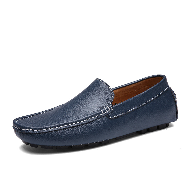 Céu Sola Formal Mocassim Do Sapatos laranja Primavera Homens azul Negócio Macia Baixos De Aa60821 Outono branco azul Mocassins Couro Casuais Sexo Confortável Preto Masculino PXpx71wqx