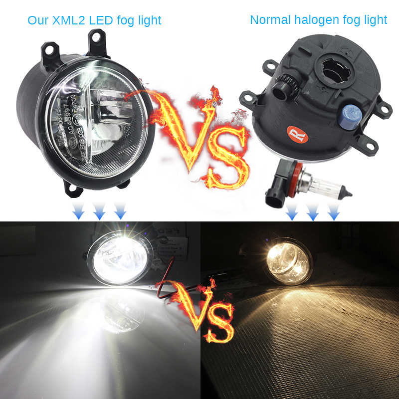 Buildreamen2 2 Pieces Car 4000LM LED Lamp Fog Light Daytime Running Lamp DRL 12V For Toyota Matrix 2008 2009 2010 2011 2012 2013