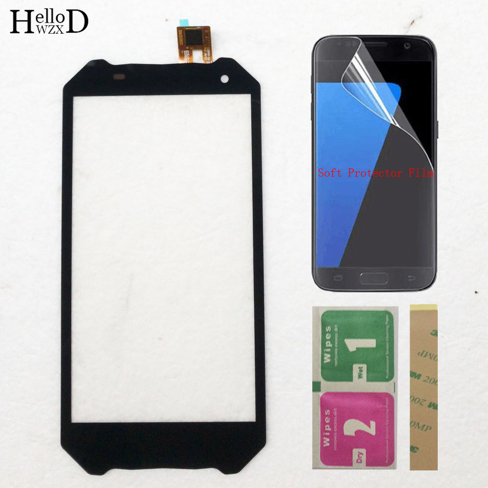 Touch Panel Sensor For BQ Mobile BQ 5033 BQ-5033 BQ5033 Shark Touch Screen Digitizer Sensor Front Glass Protector Film 3M Glue