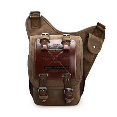 熱い販売2018新しい男性のキャンバスドロップ脚バッグ女性ウエストバッグファニーパックベルトバッグヒップボム軍事旅行オートバイ多目的バッグ