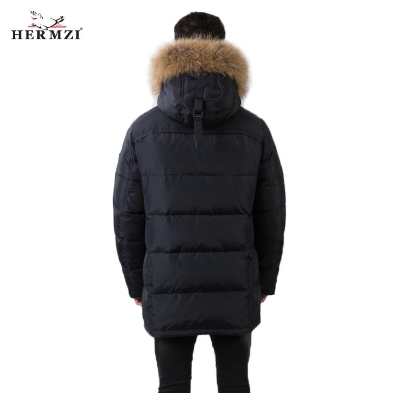 Laveur Parka Hommes Coton Hermzi 2019 Vestes Raton Long Deep Matelassé Fourrure Heren En Winterjas D'hiver Navy Manteau Parkas 2eIEH9WDY