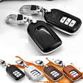 Кожаный чехол ключа автомобиля для Honda VEZEL Crider Accord crv 2014 грн 2015 дистанционного дело smart key обложка держатель