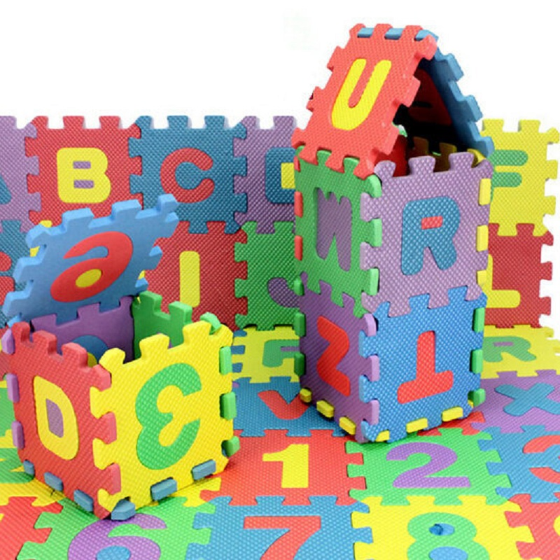 72pcs Baby Play Mat Kids Mini EVA Foam Alphabet Letters Number Mat 3D Puzzles Educational Toys For Childern playmat Toy Playpen