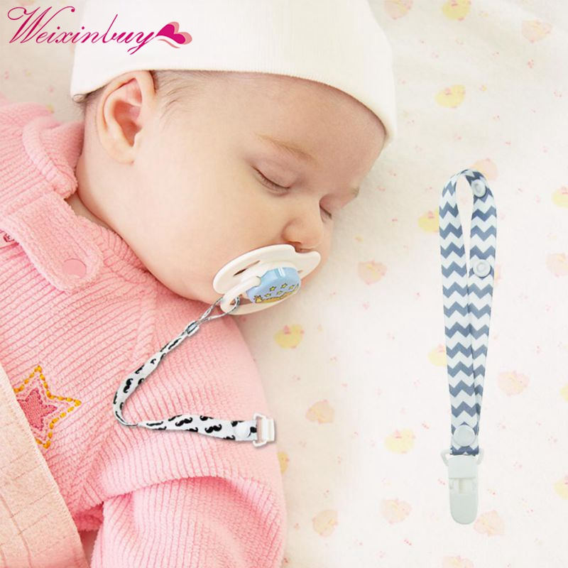 Pacifier Clips Infant Newborn Baby Pacifier Chain Anti-drop Polyester Belt 39CM Environmental Protection Baby Care Accessories