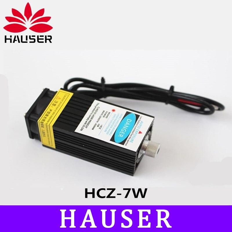 Бесплатная 7000 МВт большой мощности лазерный модуль, DIY лазерная головка 7 Вт, DIY лазеры, 450нм синий свет, хорошее качество лазера, отправить ст