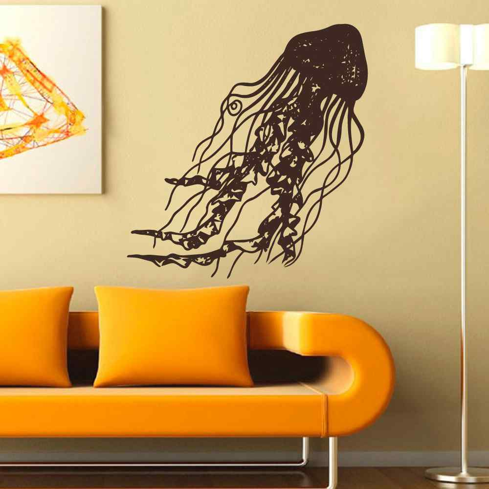 Jellyfish wall decal nautical ocean sea beach theme - Ocean themed bathroom accessories ...