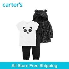 3pcs babysoft cotton cute panda hoodie clothing Set Carter's baby Girl Spring fall 126H313