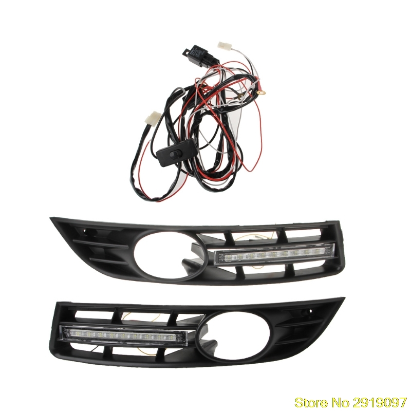 New Arrive LED Daytime Running Lights DRL Fog lamp cover driving lights for Volkswagen Vw Passat B6 Drop Shipping Support