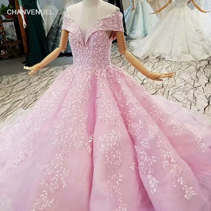 LS014588 pink ball gown evening dress off the shoulder sweetheart beauty girls pageant party dress floor length or long train