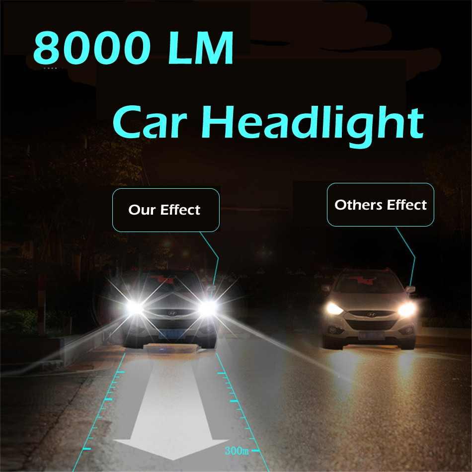 INFITARY 2 Pcs Car Headlight H4 LED H7 LED H1 H3 H11 H13 HB3 HB4 9004 9005 9006 9007 72W 10000LM 3000K 4300K 6500K Auto Light