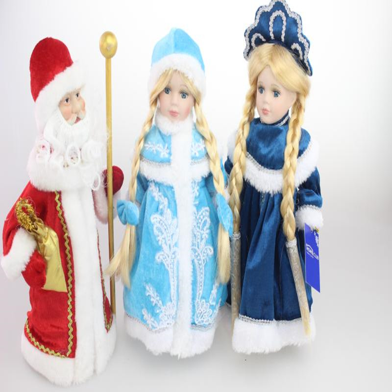 Toys Snow Princess porcelain dolls snowmaid snowgirl Russia winter decoration full set toys baby doll for girls
