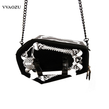 Fashion Hot Japan Harajuku Cosplay Skull Head Bone Box Tote Bag Messager Crossbody Bags Vampire Coffin Bags