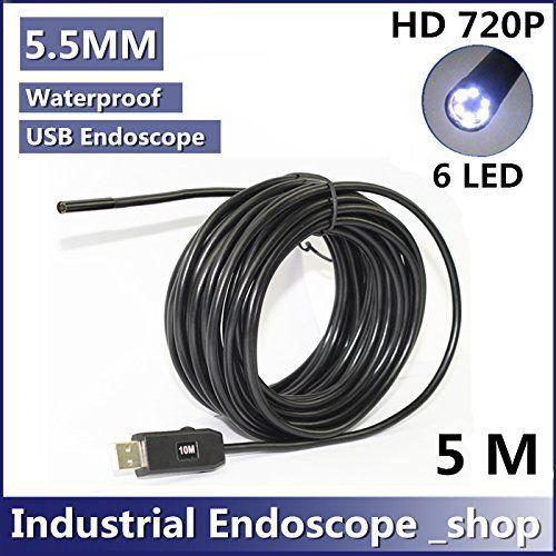 5M 5.5mm Diameter USB Waterproof 6 Led Endoscope Borescope Inspection Wire Camera5M 5.5mm Diameter USB Waterproof 6 Led Endoscope Borescope Inspection Wire Camera