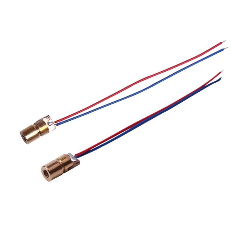 5V Copper Semiconductor Laser Diode Laser Tube Laser Dot 6 mm Diameter 10 PCS/ 1 Lot