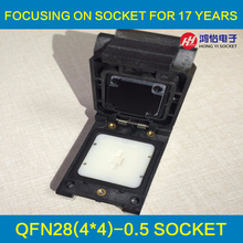QFN28 MLF28 WLCSP28 Probe pin test Programming Socket pin Pitch 0.5mm IC Body Size 4x4mm Clamshell Test Socket qfn44 mlf44 wlcsp44 to dip44 double board programming socket ic550 0444 010 g pitch 0 5mm ic size 7x7mm adapter smt test socket