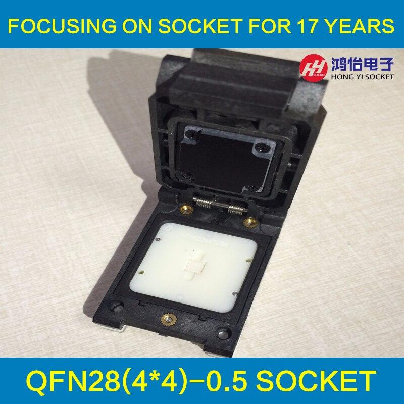 QFN28 MLF28 WLCSP28 Sonda Test Pin Programmazione Socket Pin Passo 0.5mm IC Corpo Dimensioni 4x4mm A Conchiglia Presa Di Prova
