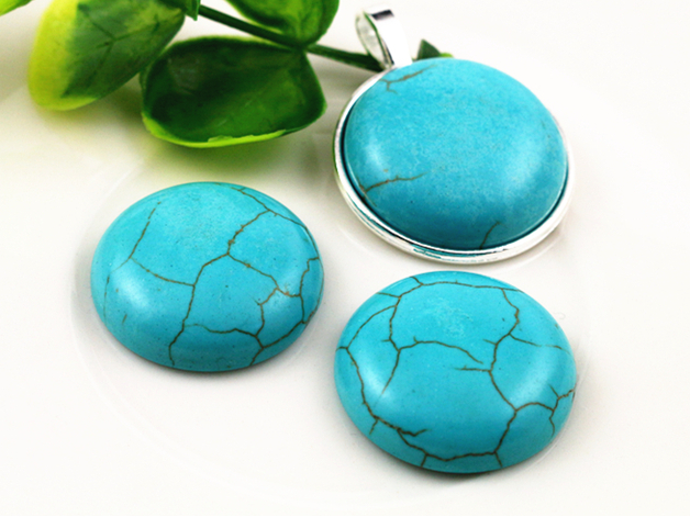 New Fashion 10pcs 25mm  Naturelle Turquoise Material Flat Back Cabochons Cameo  G4-17New Fashion 10pcs 25mm  Naturelle Turquoise Material Flat Back Cabochons Cameo  G4-17