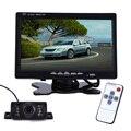 Car Rear View Monitor de 7 Polegada TFT LCD 234x480 Pixels tela com Contr Remoto + 7 IR Luzes LED Night Vision Car Rear-view Da Câmera