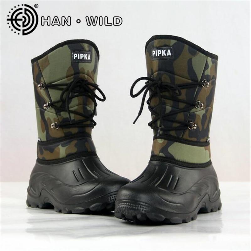 Model Waterproof Snow Boots For Males Winter Preserve Heat Footwear Male Boots Winter Fishing Boots Non-Slip Snowboarding Footwear Males Snow Footwear