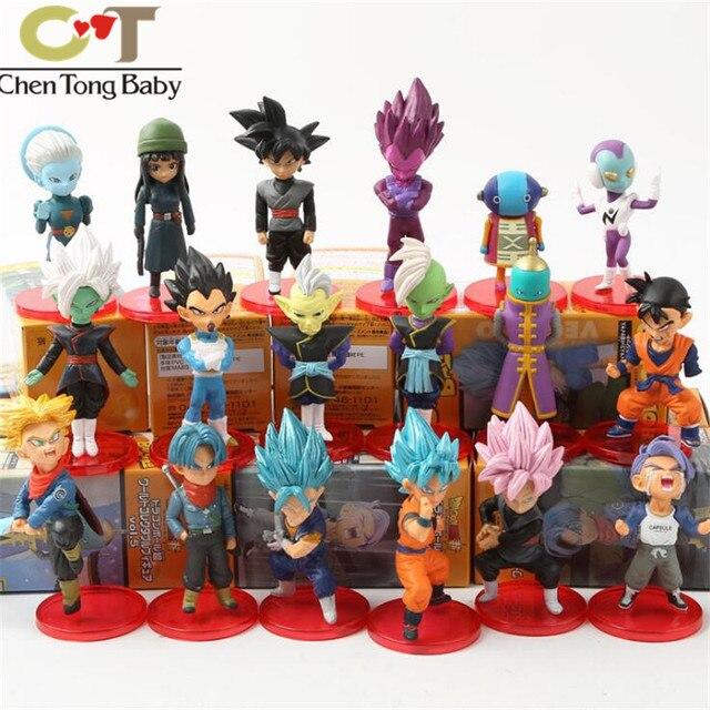 6 pçs/lote Figuras de Ação de Dragon Ball ornamentos decorativos de vinil boneca decoração 5.5-9 cm 3 tipos WJ01