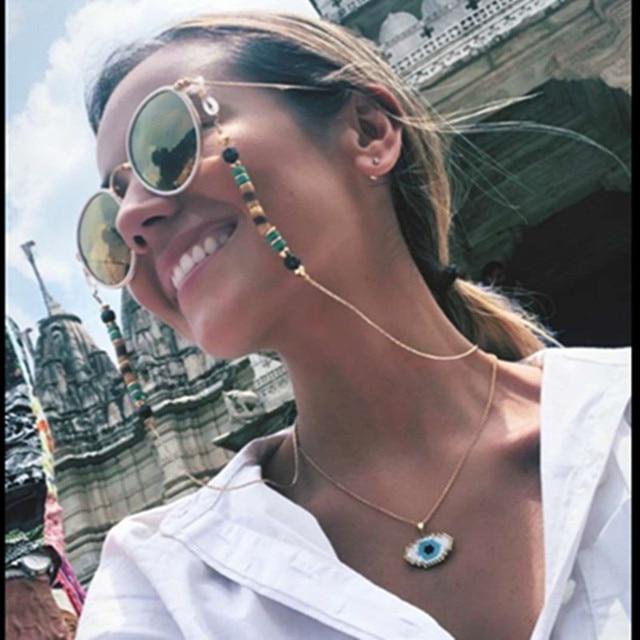 Go2boho дропшиппинг сглаза ожерелье MIYUKI Золотая цепь Ожерелье s Delica бисер вышивка бисером Fatima женские ювелирные изделия ручной работы подарок