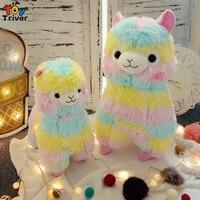 Creative Plush Colorful Rainbow Alpaca Toys Stuffed Animal Sheep Doll Kids Baby Boy Girl Friend Birthday